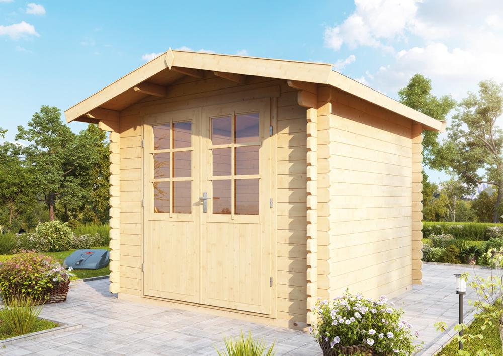 Gartenhaus 240x240cm Bausatz Holzhaus Mit Doppeltür Holz