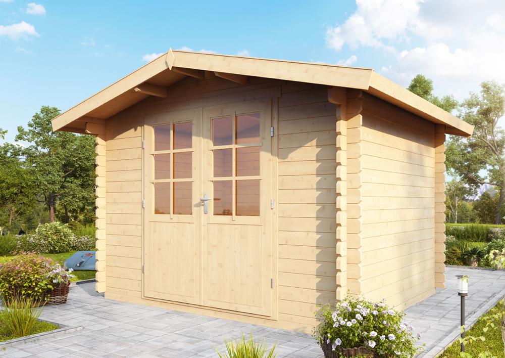 Gut bekannt Gartenhaus «300x240cm Bausatz Holzhaus mit Doppeltür» Holz RQ79