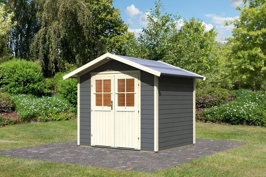 Gartenhaus KARIBU B�resund | Bornholm Holz Haus Bausatz