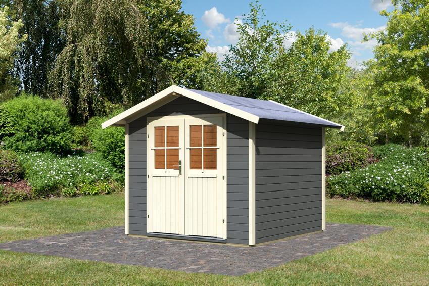 Gartenhaus KARIBU UNGERSUND | Usedom Holz Haus Bausatz