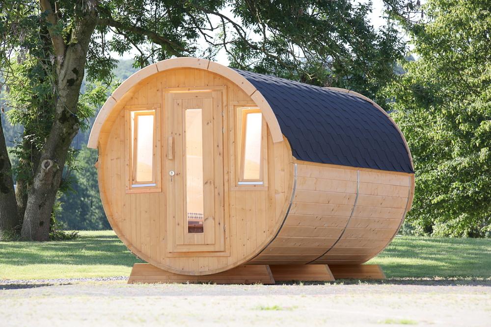 campingfass 235x446cm holzfass bausatz 2 raum. Black Bedroom Furniture Sets. Home Design Ideas