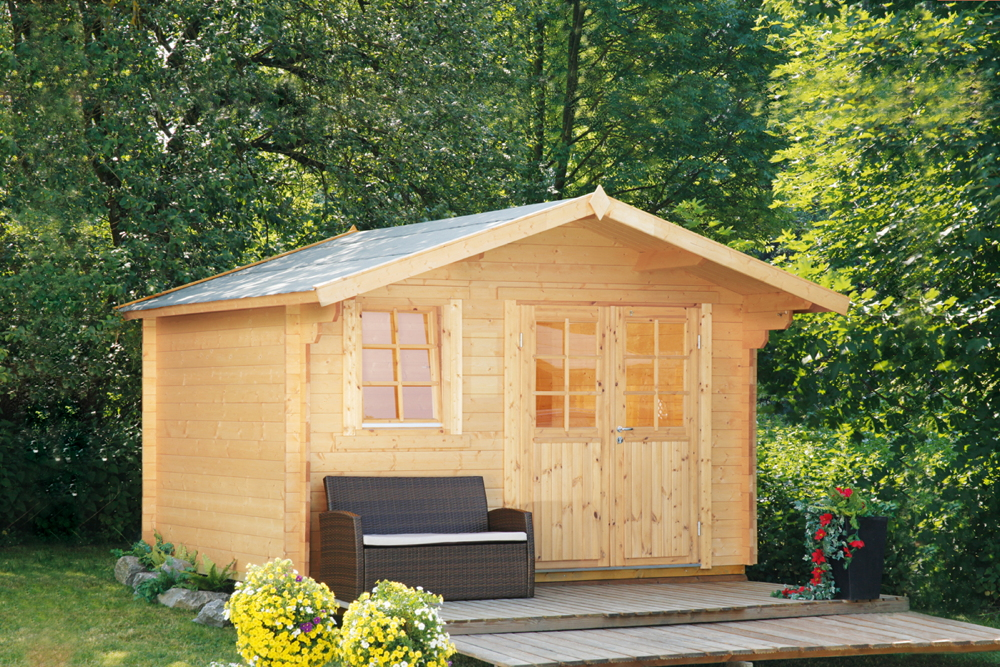 Favorit Gartenhaus «360x360cm Holzhaus Bausatz Klassik» Gartenlaube DY13