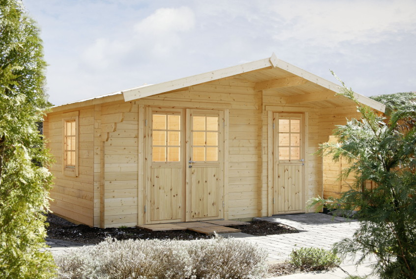 Gartenhaus 450x300cm Holzhaus Bausatz 34 Mm Klassik 2 Raum Holz Gartenhaus Vom Garten Fachhandler