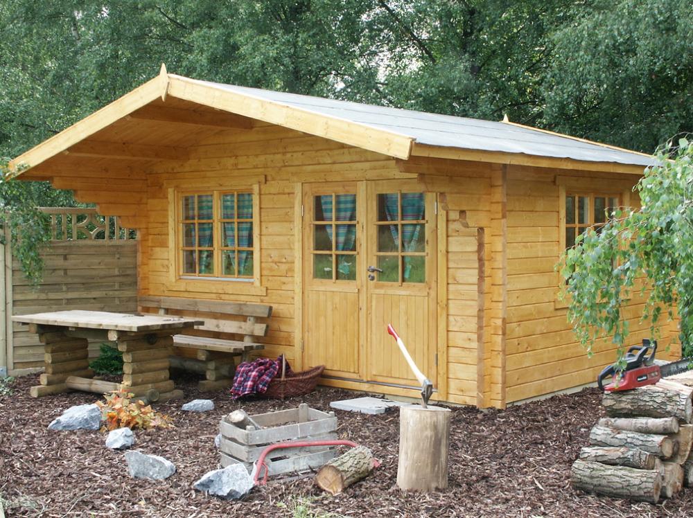 Gartenhaus wolff 530x530cm holzhaus bausatz 70mm for Gartenhaus larche bausatz