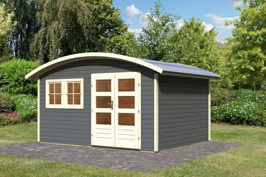 Gartenhaus Holz Endbehandelt ~ Gartenhaus KARIBU «Friedland» Holz Haus Bausatz rundes Dach  Holz