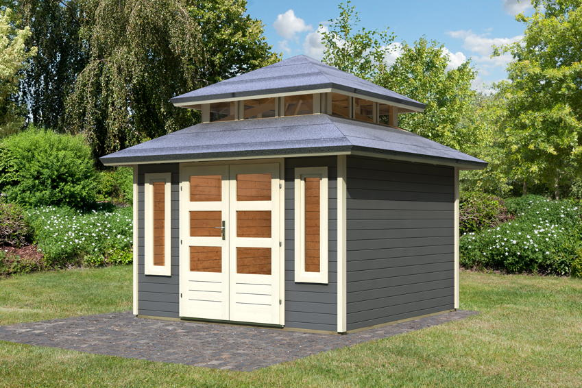 Gartenhaus KARIBU Halland Holz Haus Bausatz