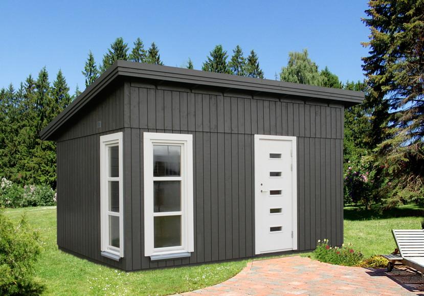 ger tehaus palmako balduin flachdach gartenhaus aus. Black Bedroom Furniture Sets. Home Design Ideas