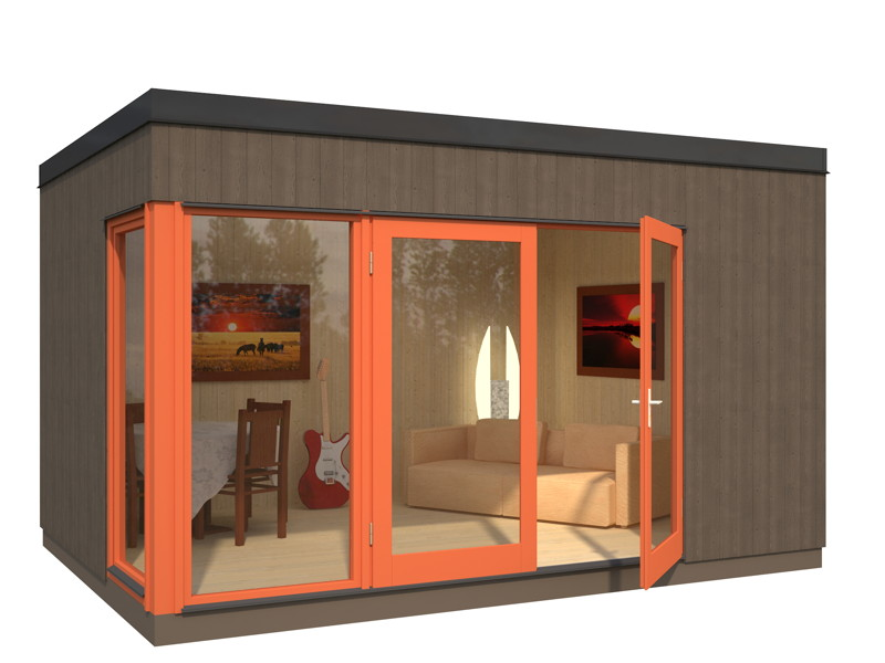 ger tehaus palmako louis flachdach gartenhaus aus holz. Black Bedroom Furniture Sets. Home Design Ideas