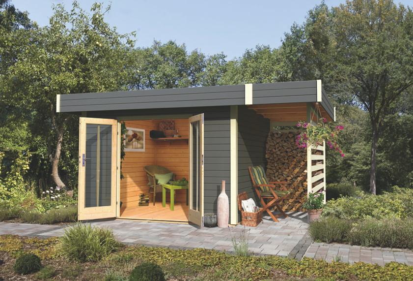 gartenhaus flachdach karibu multi cube 3 holz angebot. Black Bedroom Furniture Sets. Home Design Ideas