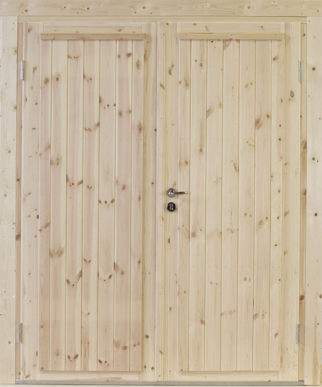 Doppeltür außen  Holz-Einbau-Tür WOLFF «Doppeltür Knut» für 28, 34, 44, 58, 70 mm ...