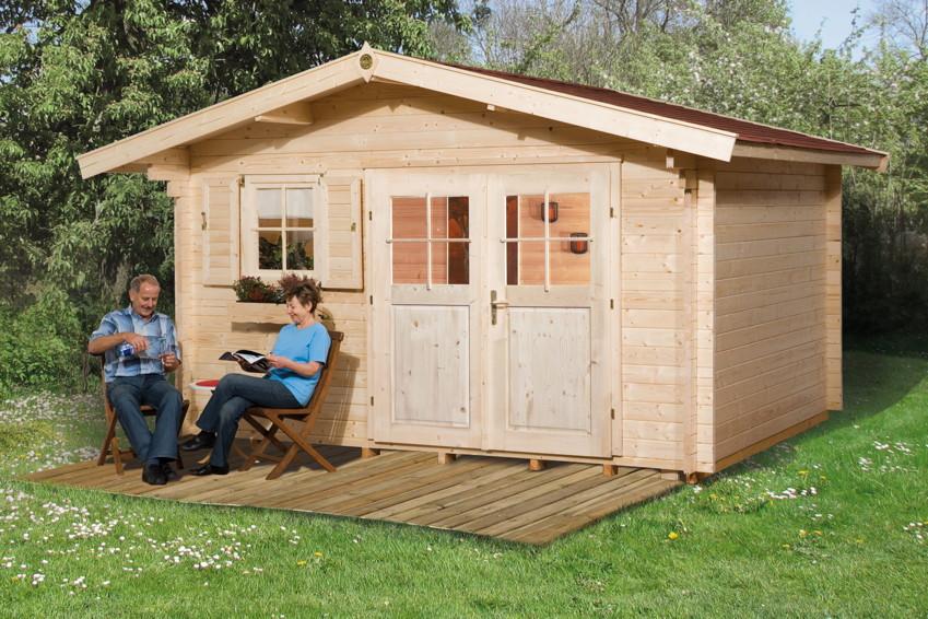 gartenhaus weka kempten 45 mm holz haus bausatz. Black Bedroom Furniture Sets. Home Design Ideas