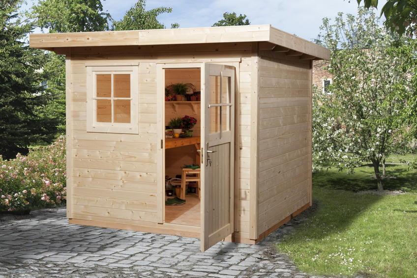 Gartenhaus WEKA Gartenhaus 170 Holz-Haus-Bausatz Holzlagerplatz