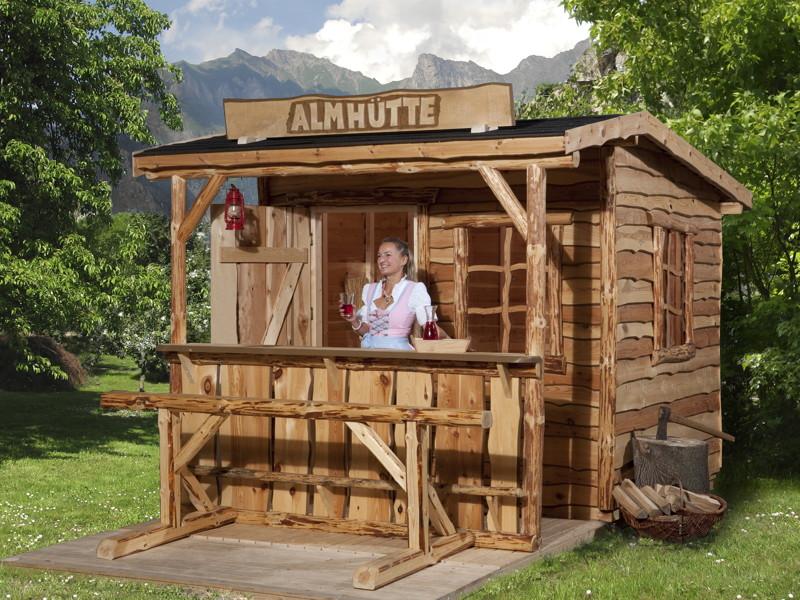 Gerätehaus Verkaufsstand Bar Marktstand Alpenfeeling Holz-Haus-Bausatz