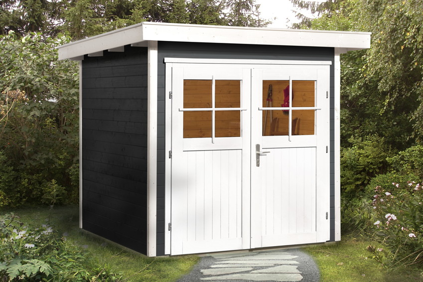 gartenhaus weka vinea flachdach ebay. Black Bedroom Furniture Sets. Home Design Ideas