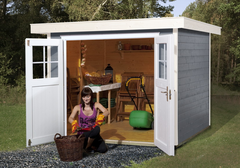 ger tehaus flachdach gartenhaus bausatz elementebauweise. Black Bedroom Furniture Sets. Home Design Ideas
