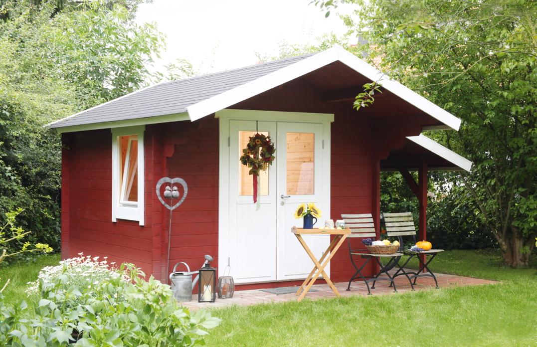 Gartenhaus 300x200cm Holzhaus Bausatz 34mm Holz-Gartenhaus, Doppeltür