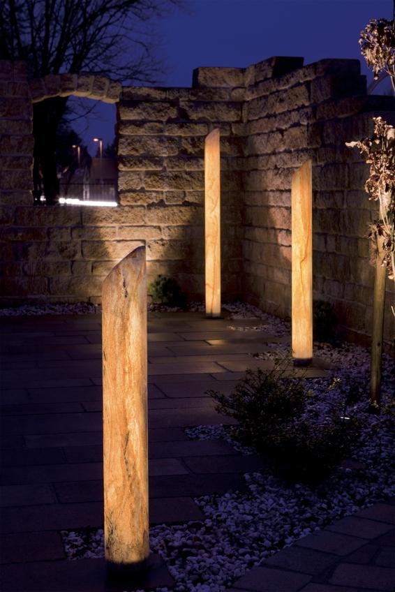 Gartenlampe aussenlampe sahara s ule s ulen leuchte - Ausgefallene gartenmobel ...