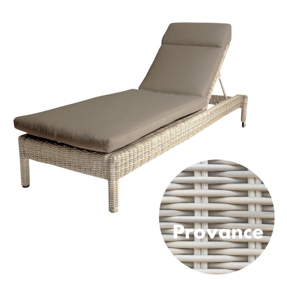 gartenliege 4seasons mambo provance stapelliege rattan mit auflage korbliege vom garten. Black Bedroom Furniture Sets. Home Design Ideas