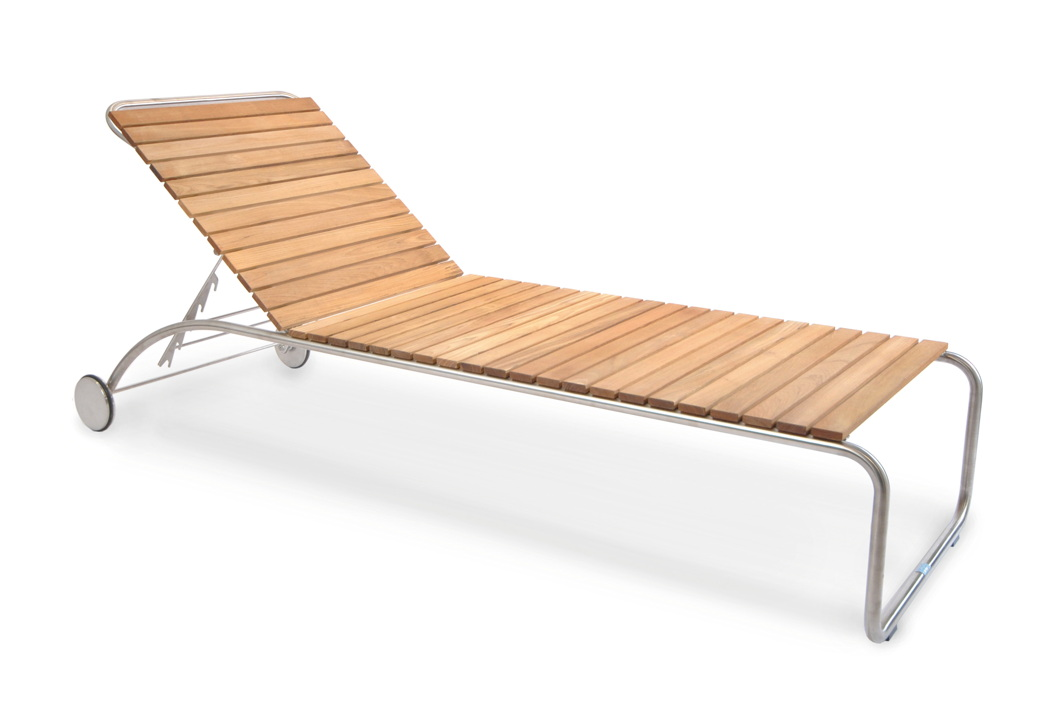 gartenliege fischer swing liege teakholz edelstahl gartenm bel fachhandel. Black Bedroom Furniture Sets. Home Design Ideas