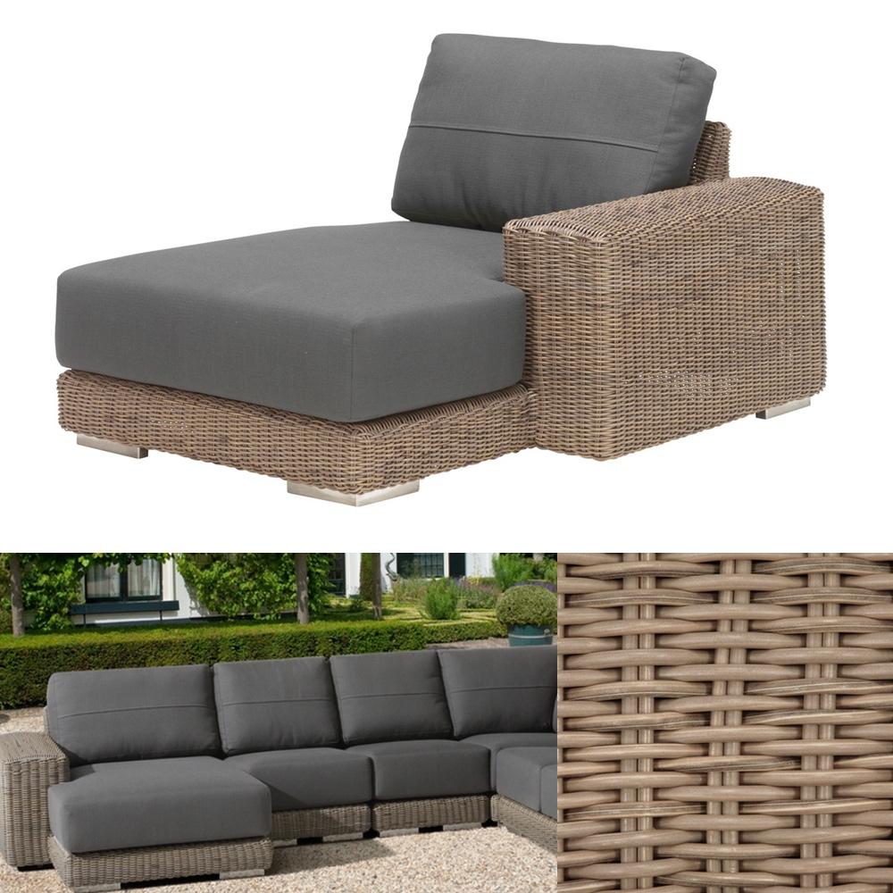 gartenliege 4seasons kingston pure recamiere armlehne links korbliege gartenm bel fachhandel. Black Bedroom Furniture Sets. Home Design Ideas