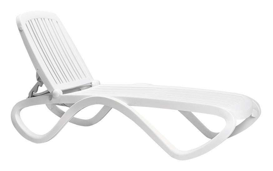 Gartenliege Nardi Tropico Stapelliege Weiß Poolliege Kunststoffliege Gartenmöbel Fachhandel