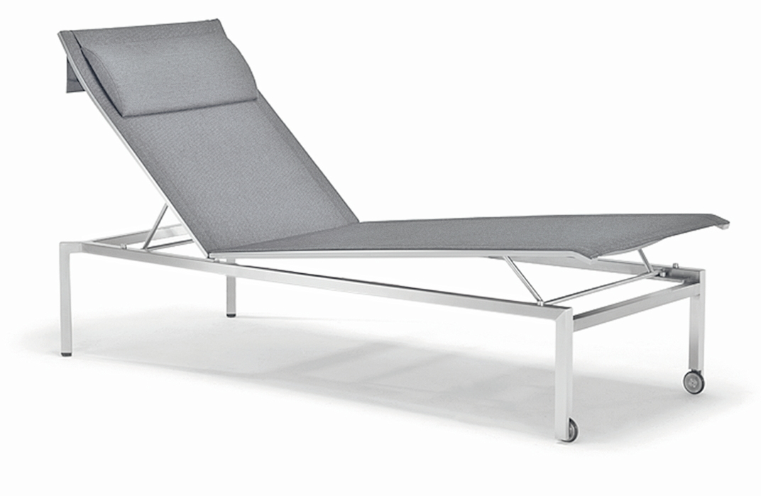 Gartenliege edelstahl  Gartenliege SOLPURI «Pure Liege» Edelstahl, Textilene silver-grey ...