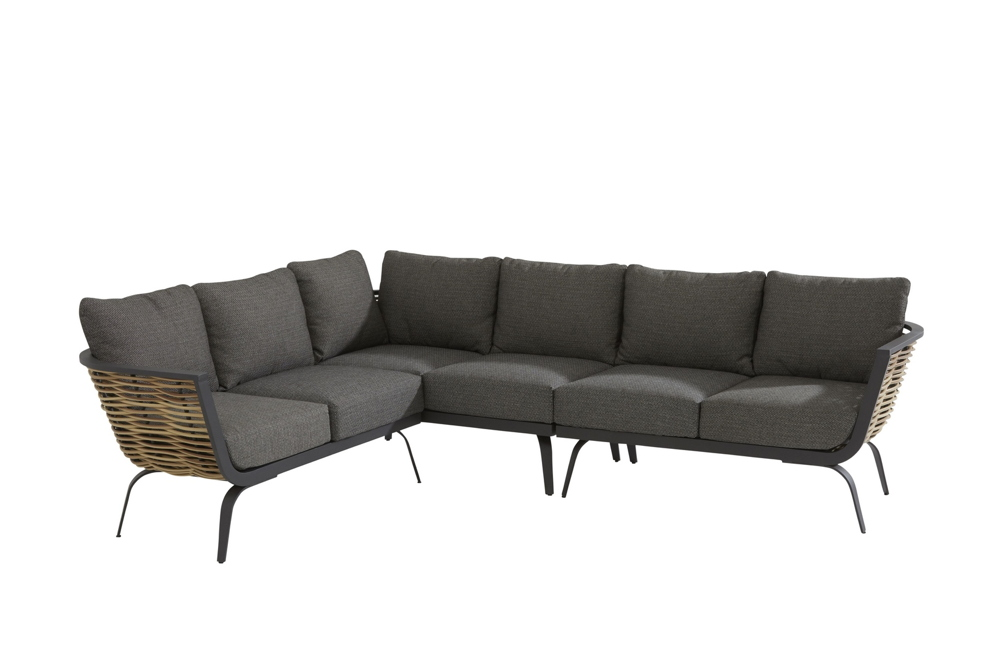 Ecksofa 4Seasons Antibes Set 3 Loungesofa Gartenmöbelset