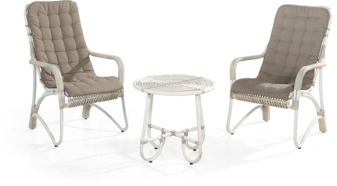 gartenstuhl olivia lounge sessel korbsessel geflecht mit kissen gartenm bel fachhandel. Black Bedroom Furniture Sets. Home Design Ideas