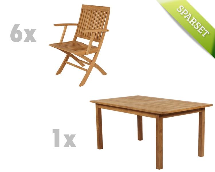 Sitzgruppe Barlow Tyrie Monaco Gartenmöbel- Set 1 Teakholz-Sitzgruppe