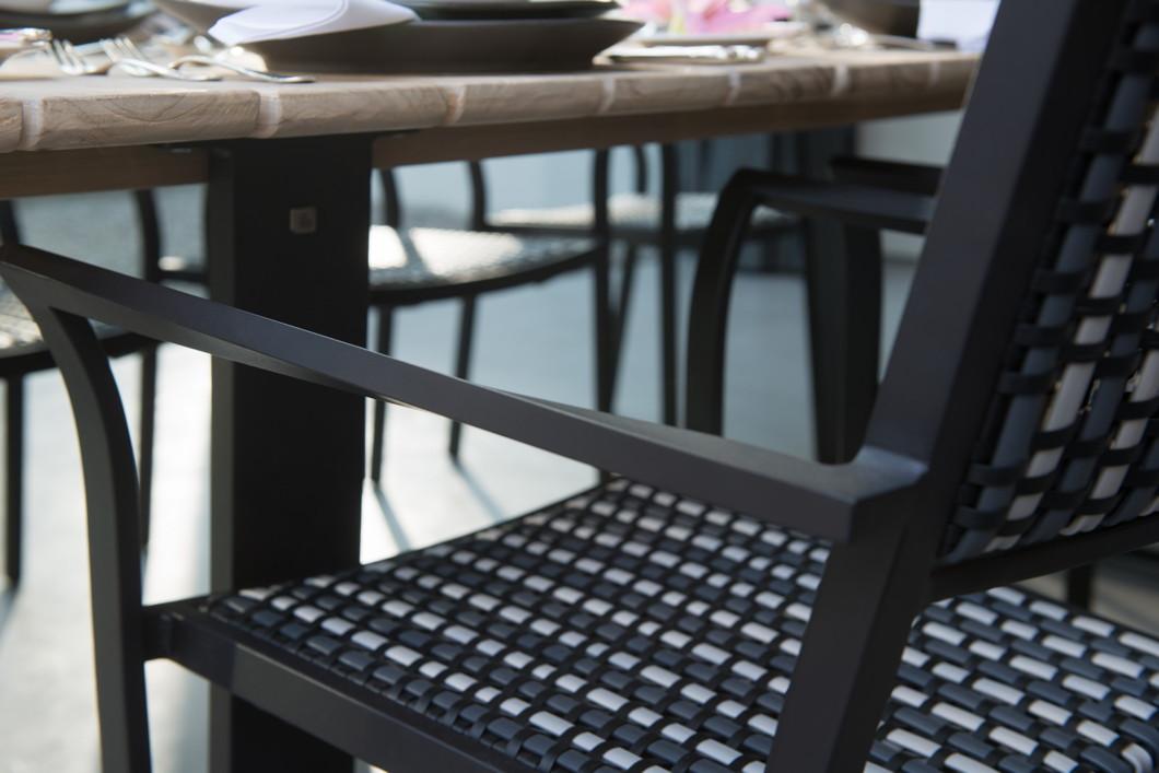 Gartenmöbelset 4SEASONS «Piazza schwarz» Dining-Set 1 ...