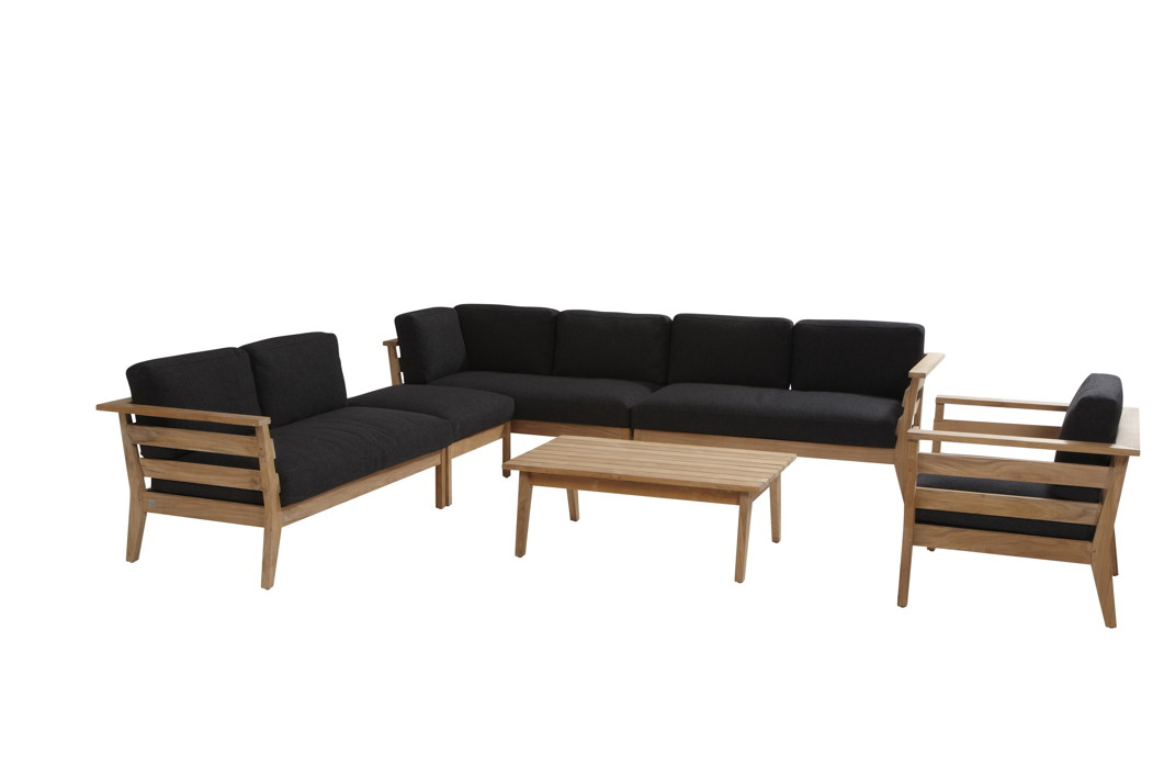 gartenstuhl 4seasons polo sessel loungesessel mit hocker set teak mit kissen gartenm bel. Black Bedroom Furniture Sets. Home Design Ideas