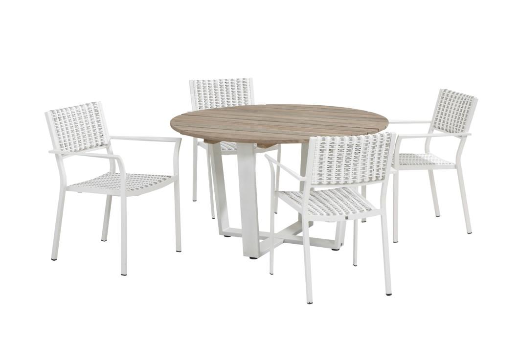 Gartenmöbelset 4SEASONS «Piazza weiß» Dining-Set 2, Sitzgruppe ...
