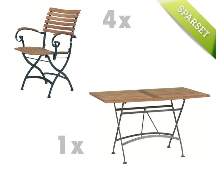 Sitzgruppe 4Seasons Bellini Set 1 Biergarten Gartenmöbelset