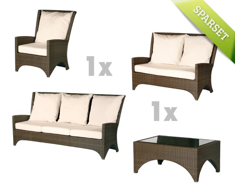 Sitzgruppe Barlow Tyrie Savannah Gartenmöbel Lounge Set 1