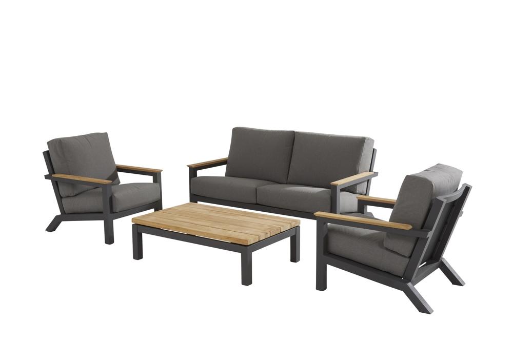 Sitzgruppe 4Seasons Capitol Set 1 Lounges Gartenmöbel Aluminiumset mit Kissen