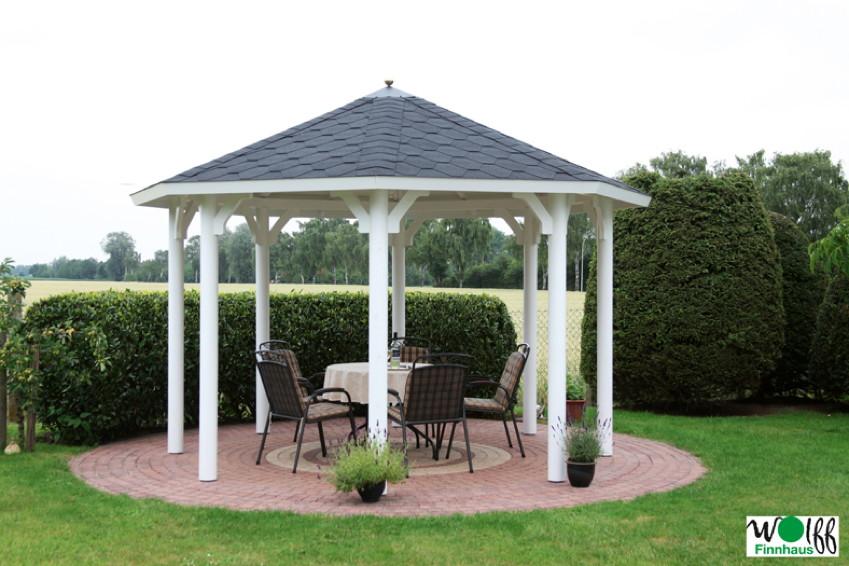 Eleganter Holz Pavillon Unlackiert 8 Eck Gartenpavillon Premium Mit