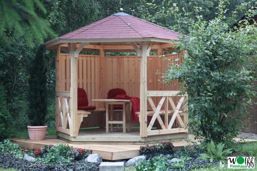 holz pavillon offen gartenpavillon 300x250cm pavillon garten laube aus holz pavillion. Black Bedroom Furniture Sets. Home Design Ideas