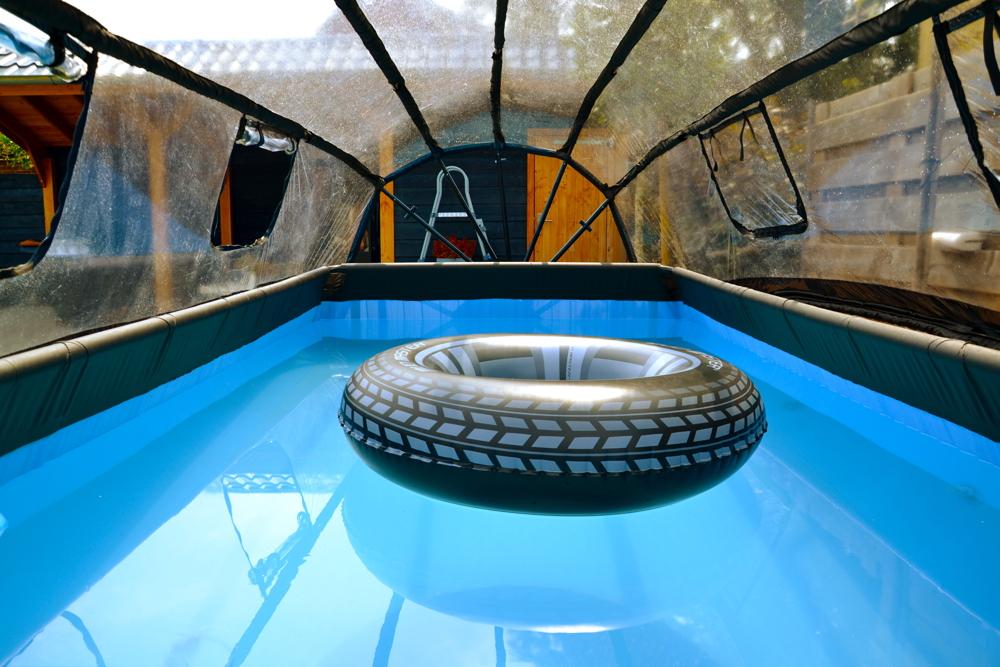 Relativ Rahmenpool Schwimmbecken «4x2m Frame Pool braun» Swimmingpool mit PS46