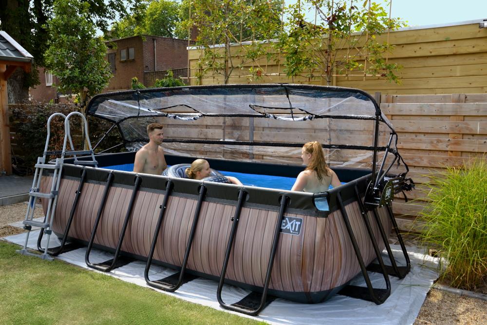 Bekannt Rahmenpool Schwimmbecken «4x2m Frame Pool braun» Swimmingpool mit TQ35
