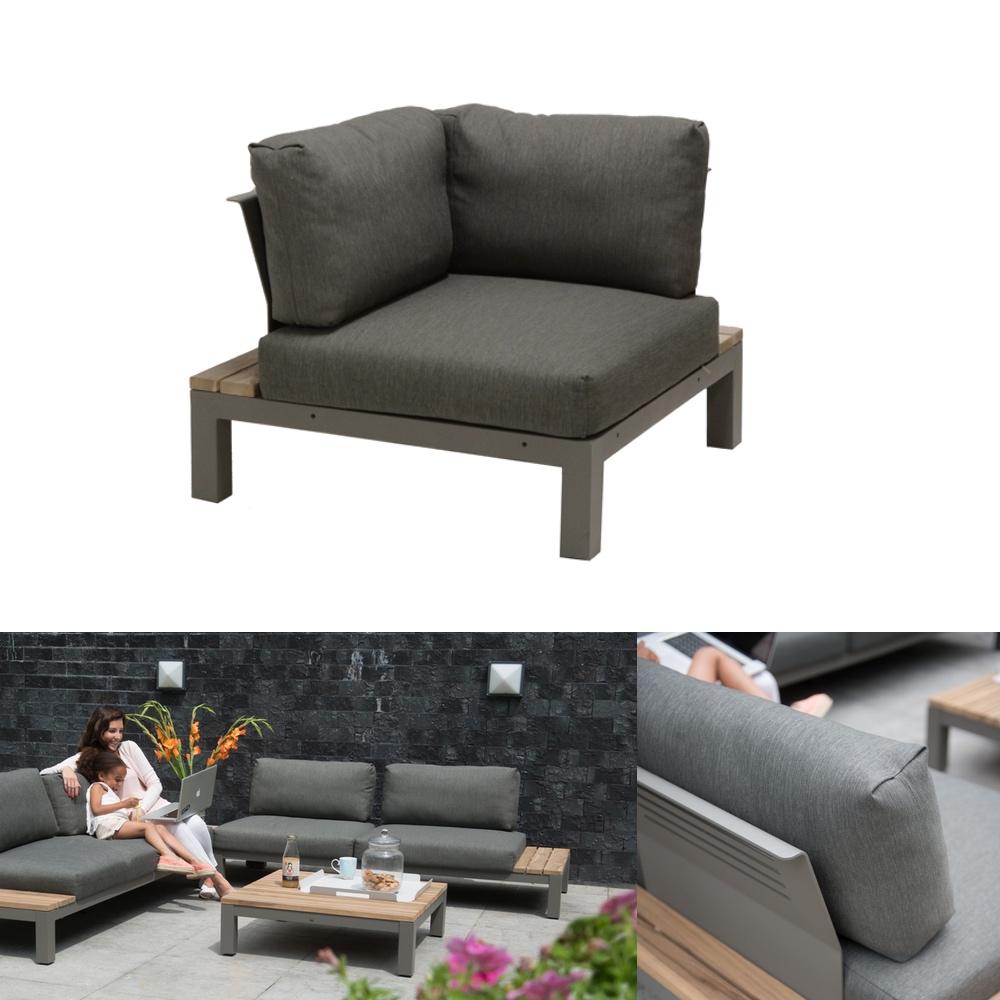 gartenstuhl 4seasons fidji eckelement loungemodul teakholz inkl kissen gartenm bel fachhandel. Black Bedroom Furniture Sets. Home Design Ideas