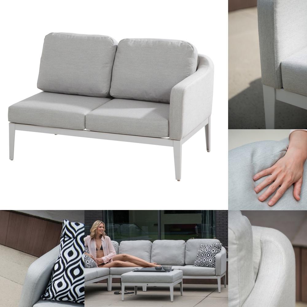 gartenbank 4seasons almeria 2er sofa couchelement armelehne links gartenm bel fachhandel. Black Bedroom Furniture Sets. Home Design Ideas