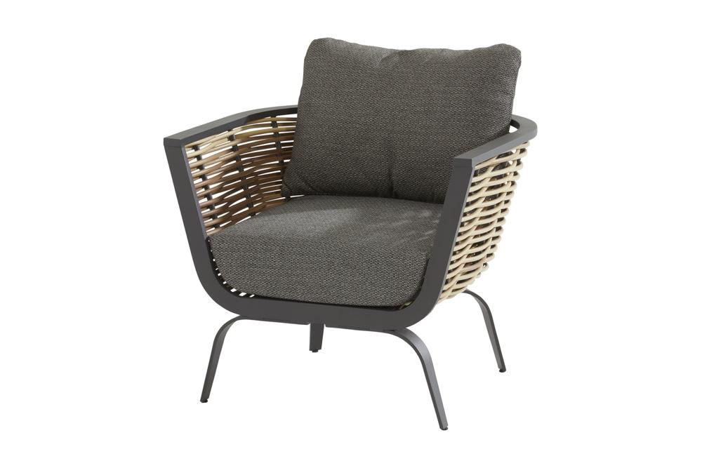 Gartenstuhl 4seasons Antibes Lounge Sessel Geflechtsessel Inkl