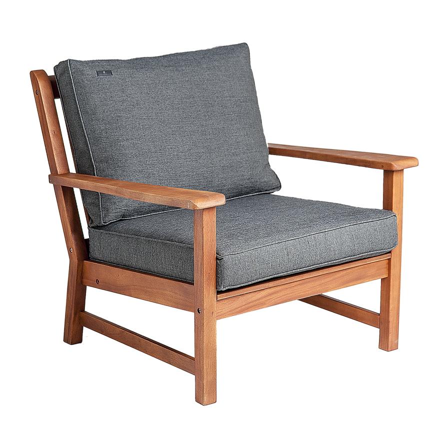 gartenstuhl alexander rose cornis boardfield loungesessel holzstuhl kissen vom garten. Black Bedroom Furniture Sets. Home Design Ideas