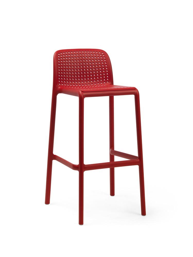 barhocker nardi lido barstuhl rot stapelbar kunststoffhocker gartenm bel fachhandel. Black Bedroom Furniture Sets. Home Design Ideas