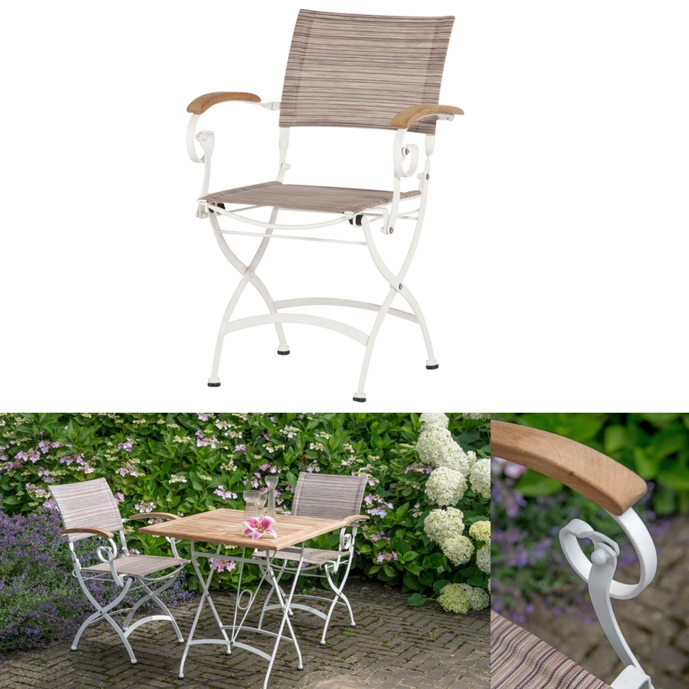 gartenstuhl 4seasons bellini wei biergartensessel biergartenstuhl teakholz vom garten. Black Bedroom Furniture Sets. Home Design Ideas