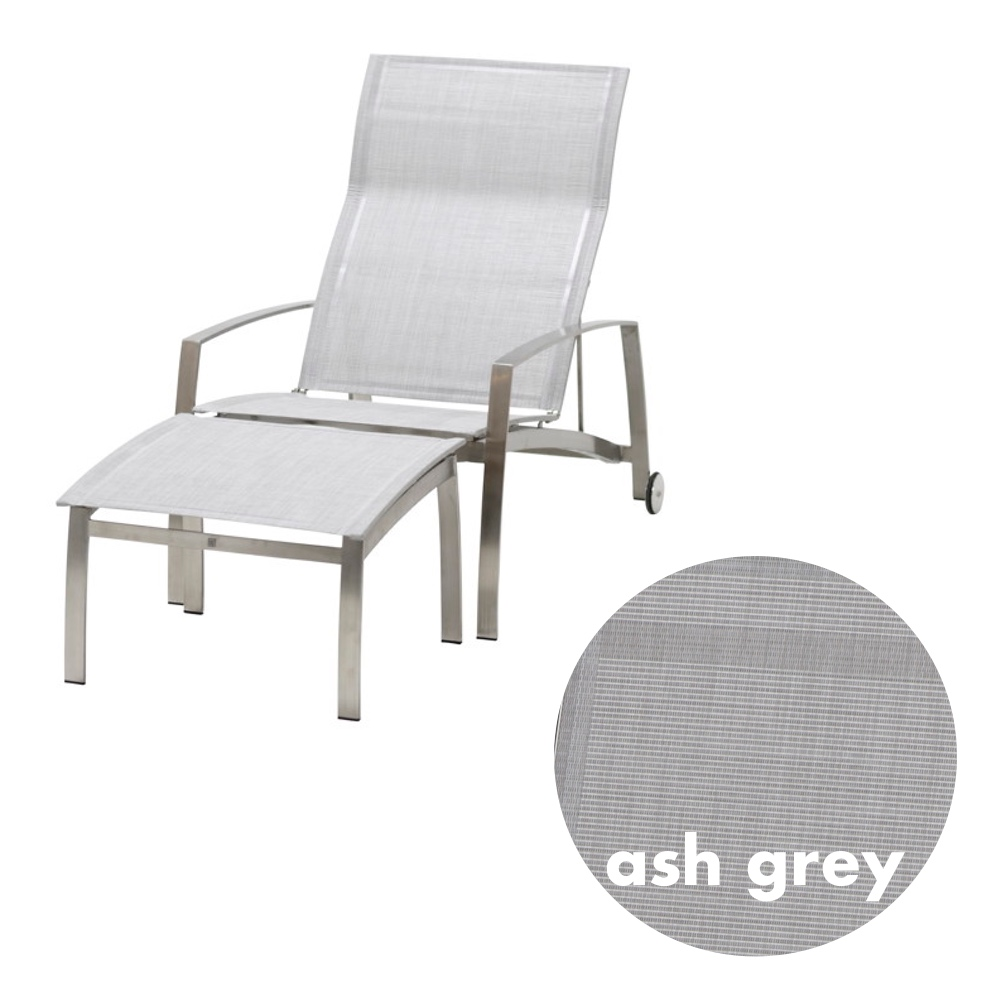 Lieblich Gartenstuhl 4SEASONS «Summit Deck Chair Ash Grey» Liegestuhl Edelstahl  Textilene