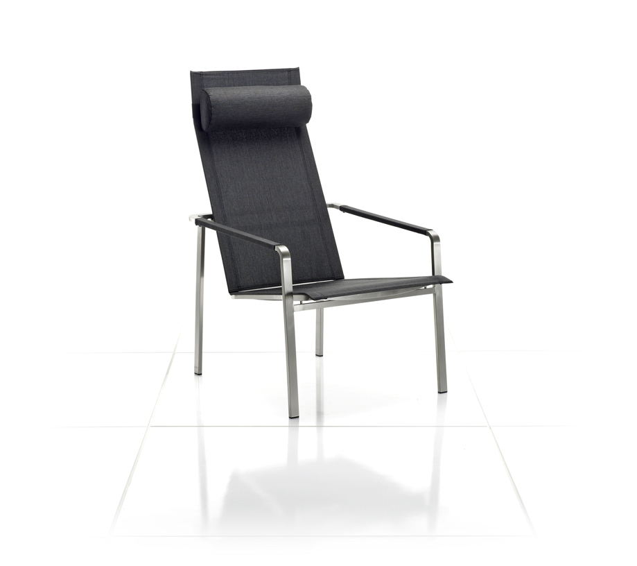 gartenstuhl solpuri jazz deckchair anthrazit edelstahl textilene gartenm bel fachhandel. Black Bedroom Furniture Sets. Home Design Ideas