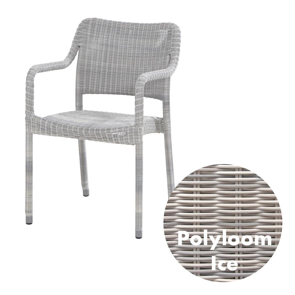 gartenstuhl novas polyloom ice stapelsessel geflecht korbsessel gartenm bel fachhandel. Black Bedroom Furniture Sets. Home Design Ideas