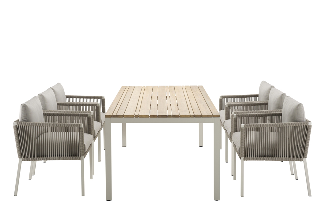 gartenstuhl solpuri club dining sessel taupe aluminium mit kissen gartenm bel fachhandel. Black Bedroom Furniture Sets. Home Design Ideas