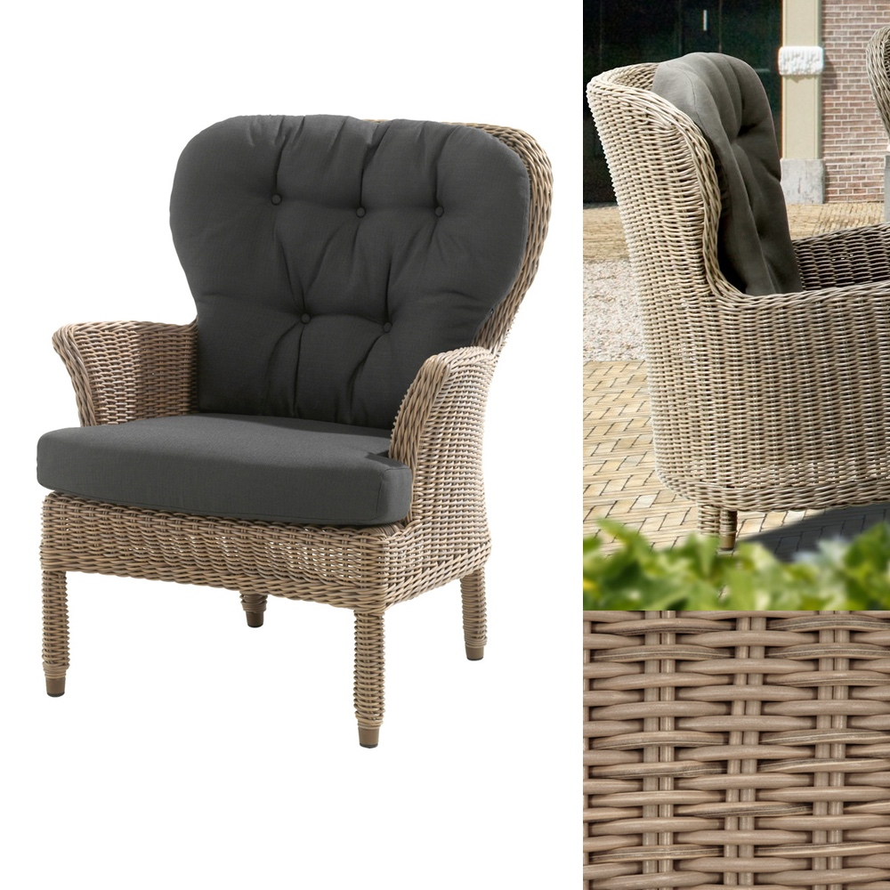 gartenstuhl 4seasons buckingham pure sessel loungesessel korbsessel gartenm bel fachhandel. Black Bedroom Furniture Sets. Home Design Ideas